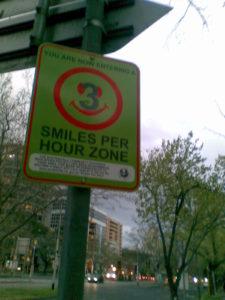 3 smiles per hour?