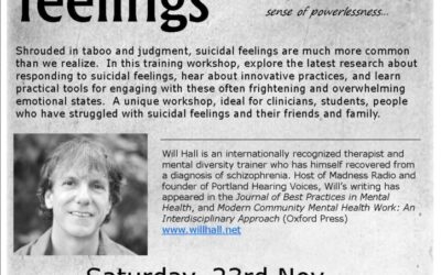 Living with Suicidal Feelings – a workshop in Melbourne